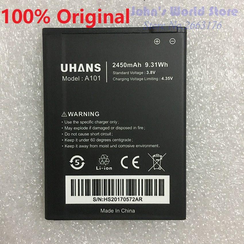 100% Original Nouveau Pour UHANS A101 A101S 2450 mAh UHANS Mobile Téléphone batterie Smartphone Batterie De Remplacement