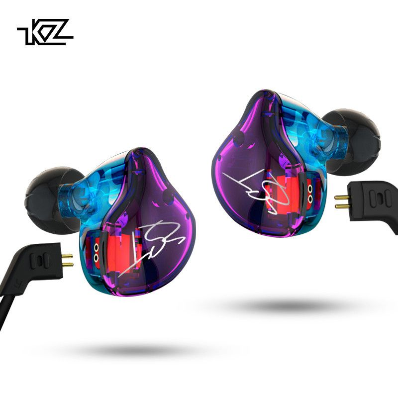 KZ ZST Pro Armature Dual Driver Earphone Detachable Cable In Ear Audio Monitors <font><b>Noise</b></font> Isolating HiFi Music Sports Earbuds