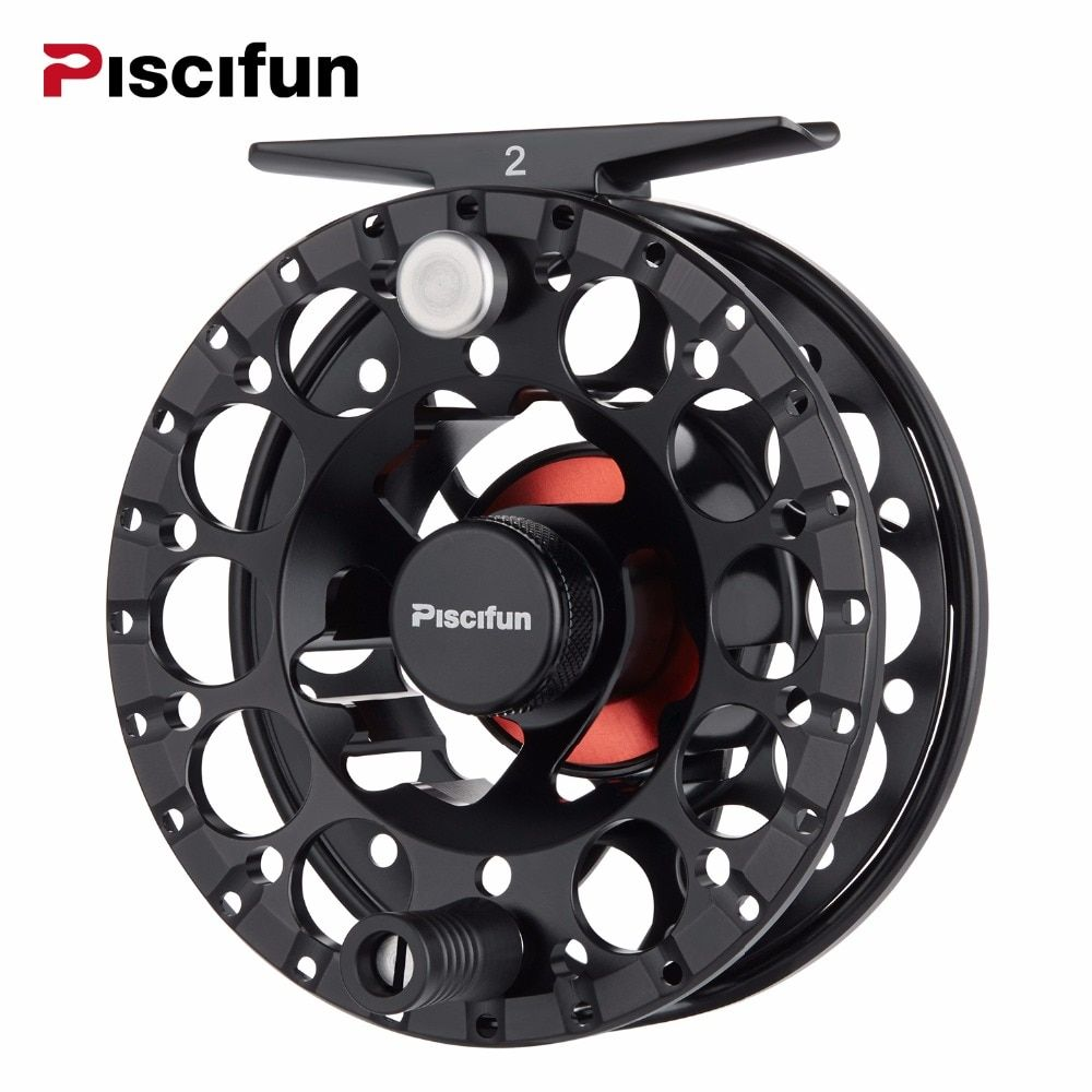 Piscifun Sword II Black Fly Reel 3/4 5/6 7/8 Sealed Drag Lighter CNC Machined Aluminium Alloy Right Left Hand Retrieve Fly Reel