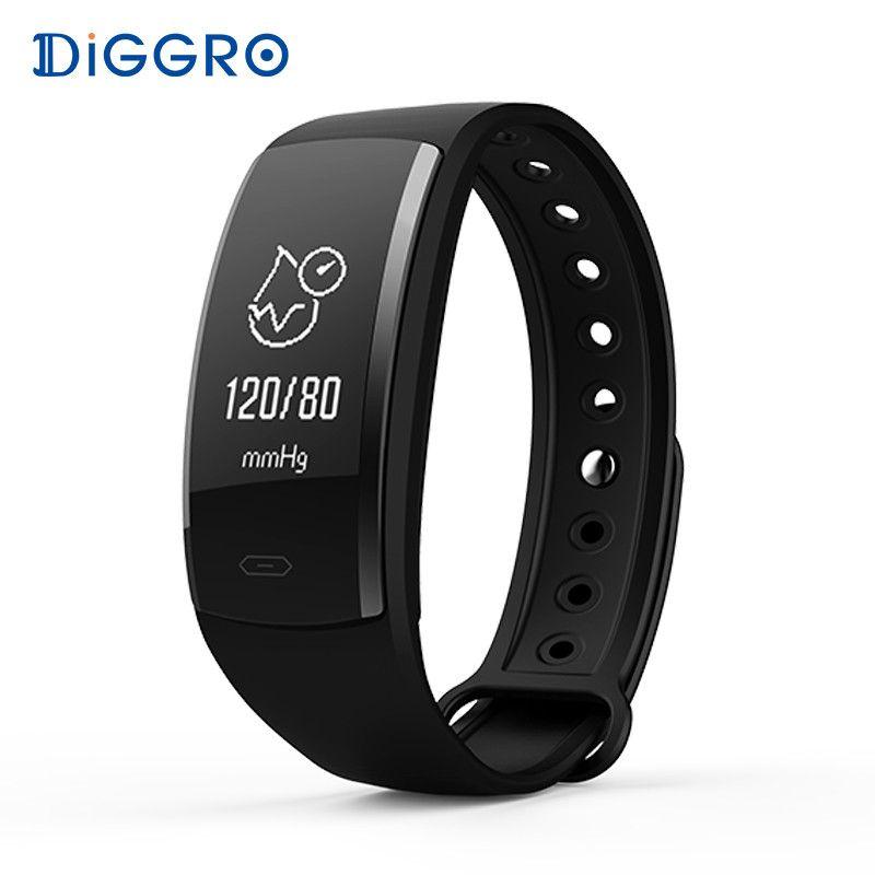 Diggro QS90 Blood Pressure Smart Bracelet Heart Rate <font><b>Monitor</b></font> Blood Oxygen <font><b>Monitor</b></font> IP67 Fitness Tracker for Andriod IOS VS QS80