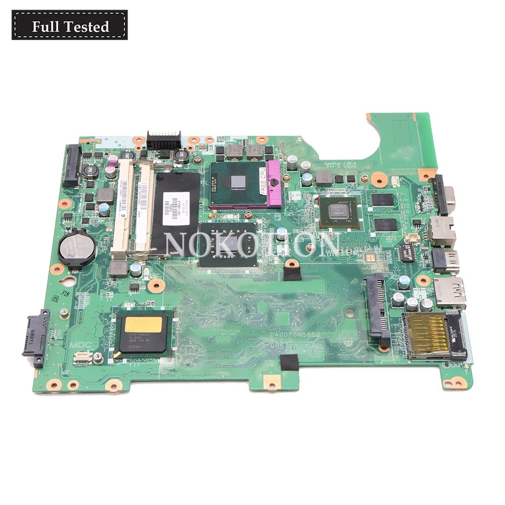 NOKOTION DA00P6MB6D0 517837-001 For HP Compaq Presario CQ61 G61 Laptop Motherboard DDR2 G105M GPU PGA478 Free cpu