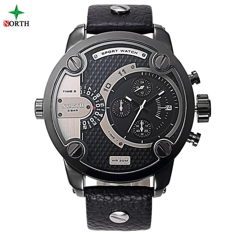 Male Sport Wristwatch Luxury Brand Fashion Men Clock 30M Water Resistant Stainless Steel 2017 Men Sport Watch with High Quality