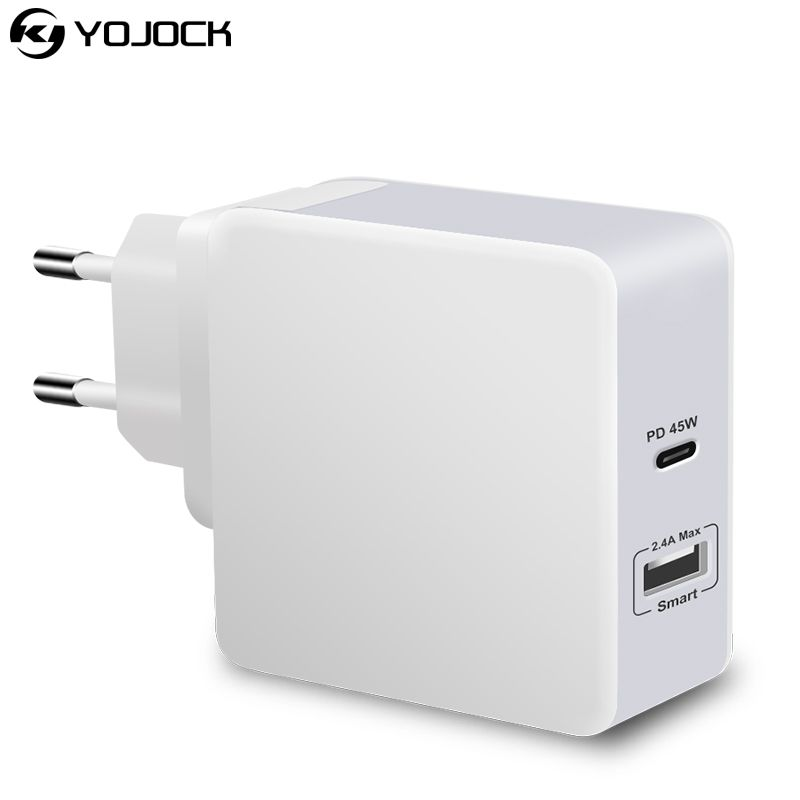 UL Certification PD USB C Charger 45W Quick USB Wall Charger Adapter Travel For iPhone X Samsung Xiaomi Fast Phone Charger QC3.0