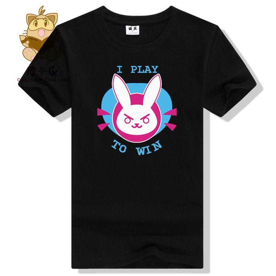 Горячая игра следить за характер Прекрасный футболка D. VA dva футболка высокого качества прекрасный кролик печати красочные футболка ac248