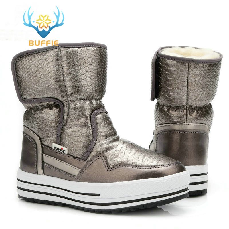 Boots woman shoes winter female warm fur water-resistant <font><b>upper</b></font> plus size fashion non-slip sole free shipping new style snow boot