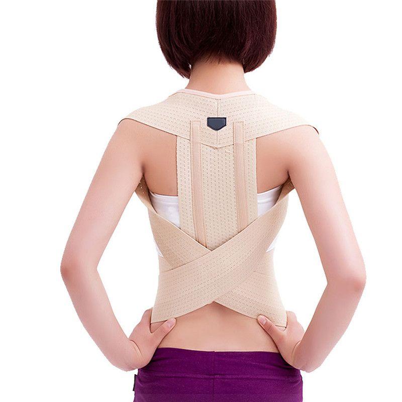 Réglable Posture Correcteur Corset Back Support Brace Ceinture pour Étudiant Adulte Retour Thérapie Accolades Supports Orthopédiques S/M