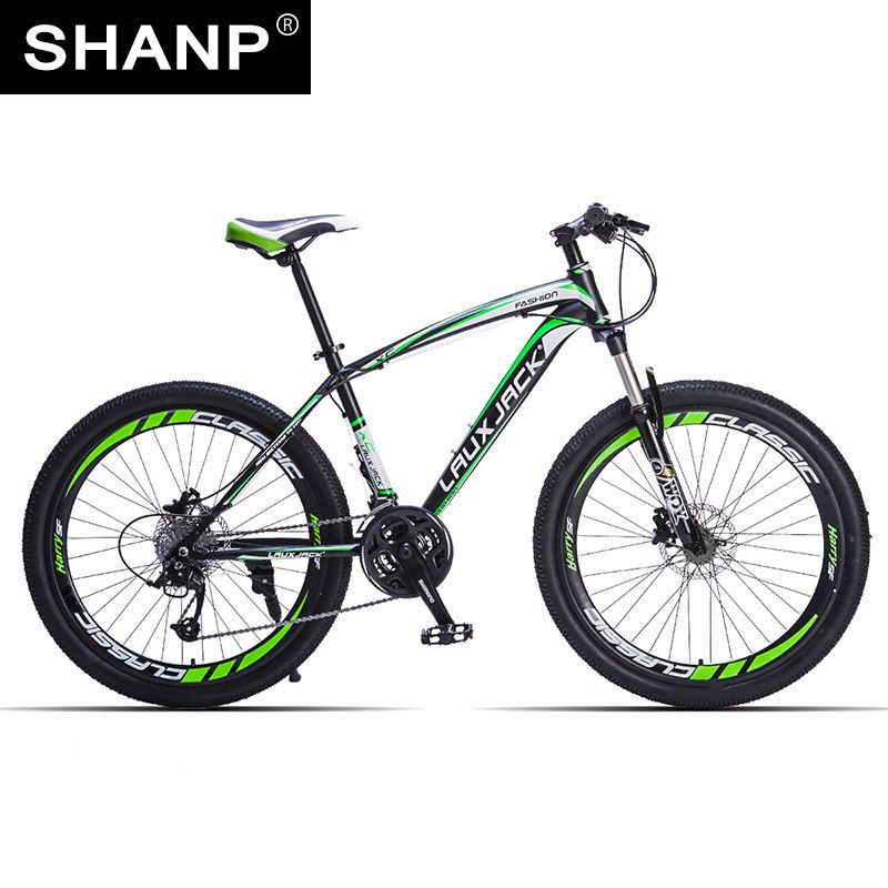 LAUXJACK Mountain Bike <font><b>Steel</b></font> Frame 24 Speed Shimano 26 Wheel