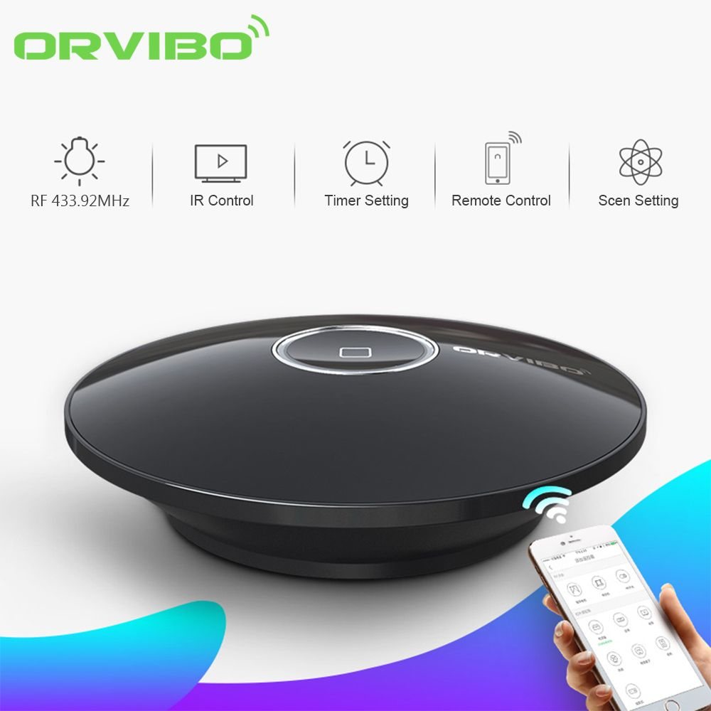 Original Orvibo Allone Pro Smart Home Universal Intelligent WiFi/4G Network Connect IR+RF Remote Controller For Home Automation