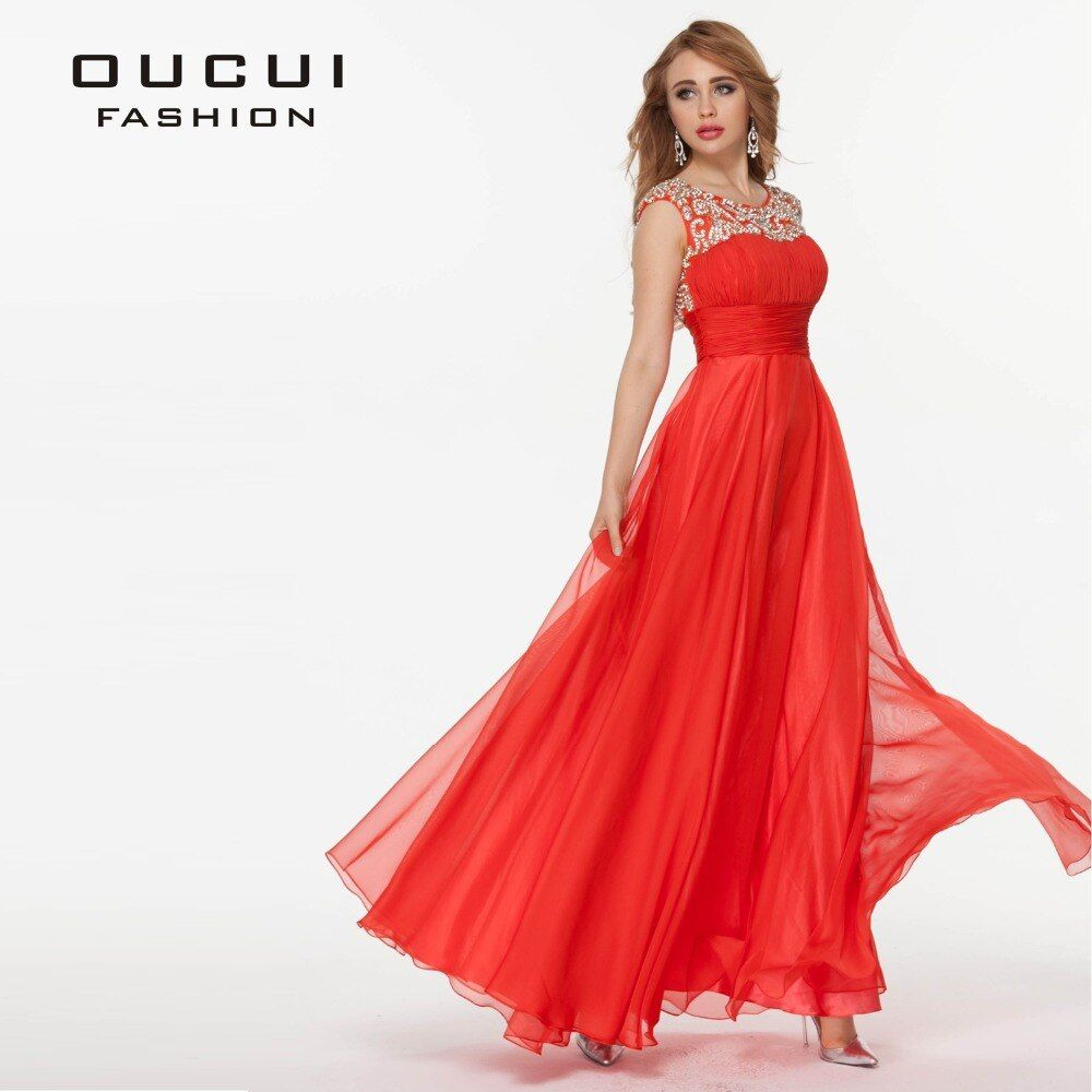 Real Photos Tulle And Chiffon Fabric Beading Hand work Party Long Dresses For Women OL102423