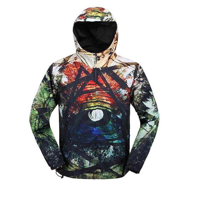 Cloudstyle chaqueta de invierno estilo casual 3D impresión Outwear invierno chaqueta masculina manga larga sportwear caliente cremallera Sudaderas