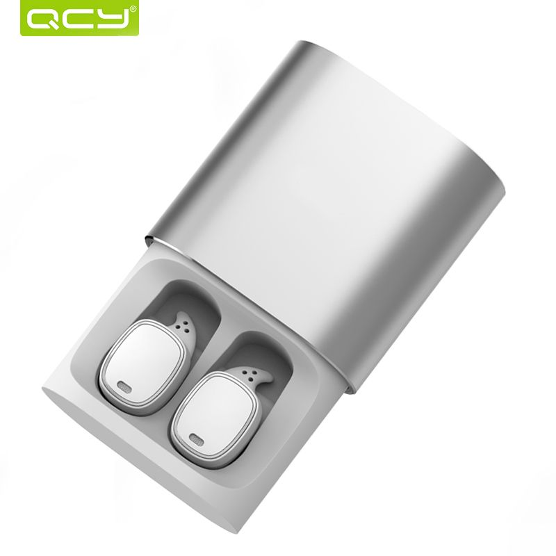 QCY T1 Pro Touch Control Bluetooth Earphones TWS Mini Wireless Headset with Mic Handsfree Music Earbuds and 750mAh charging box