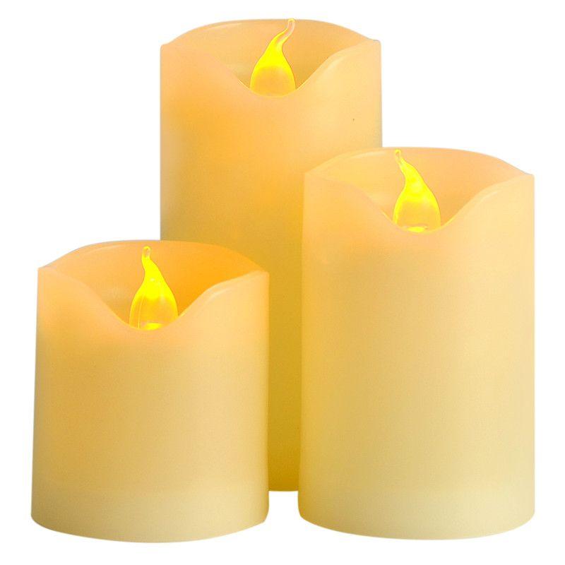 3 pcs/lot Petite Batterie Exploité LED Bougie avec Longue Durée Lumière Sans Flamme LED Bougie Ensemble avec Hight Qualité