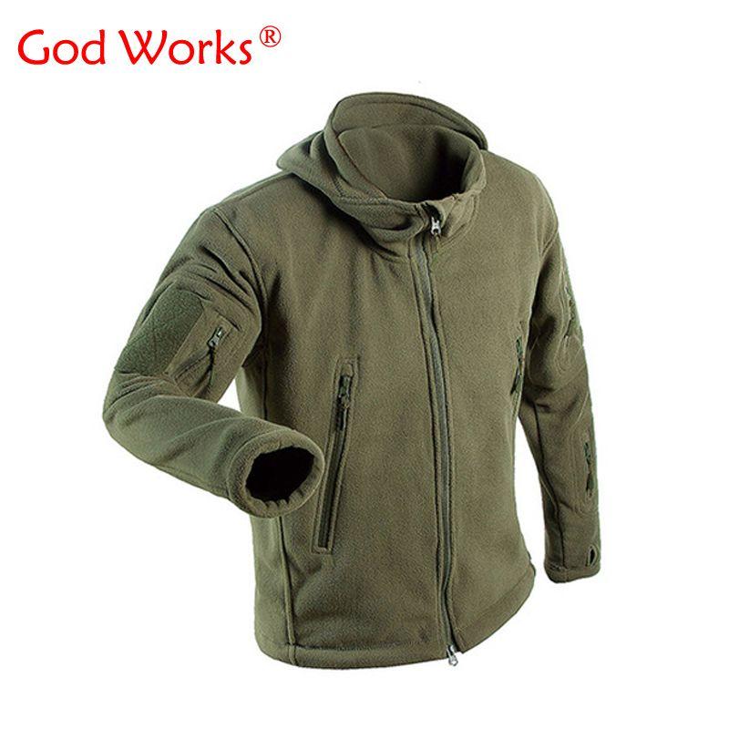 2017 зимние Военное Дело флисовая куртка теплая тактическая куртка Для мужчин Термальность мужчины Polartec флисовая куртка армии