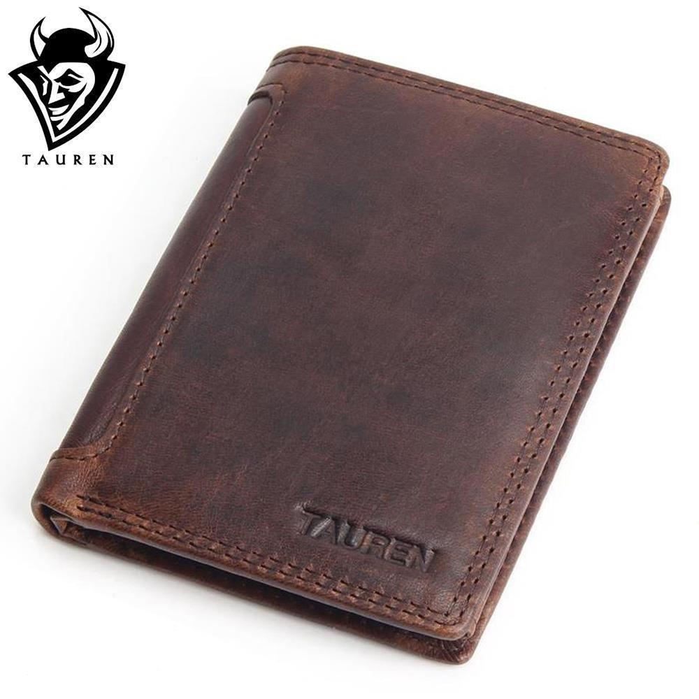 Vintage Designer 100% Genuine Carteiras Masculinas Cowhide Leather Men Short Wallet Purse Card Holder Coin <font><b>Pocket</b></font> Male Wallets