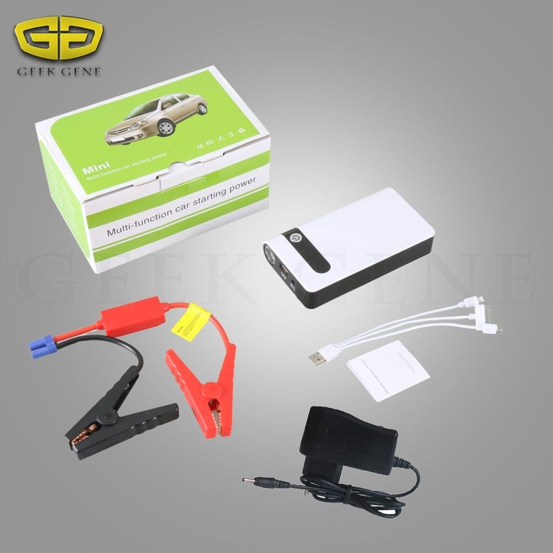 Portable Car Jump Starter Pack 12v Small Power bank Petrol Diesel Battery Pack 12000mAh Auto Emergency Starter for Car Ignition