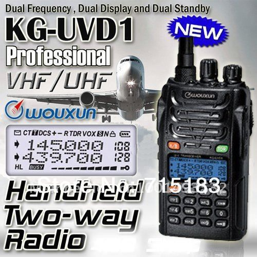 Original portable radio Hot sale Dual Band Dual Display WOUXUN KG-UVD1P VHF & UHF Two-way radio Wouxun KG UVD1P WALKIE TALKIE