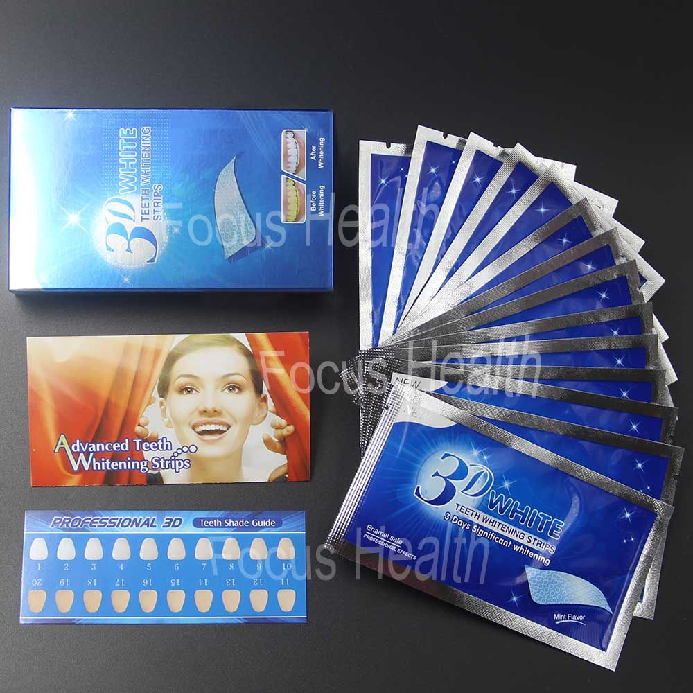 3d Teeth Whitening Strips 14 Pouches 28 Strips Tooth Whitener Bleach Bright White Dental Bleaching Care Oral Hygiene Easy To Use