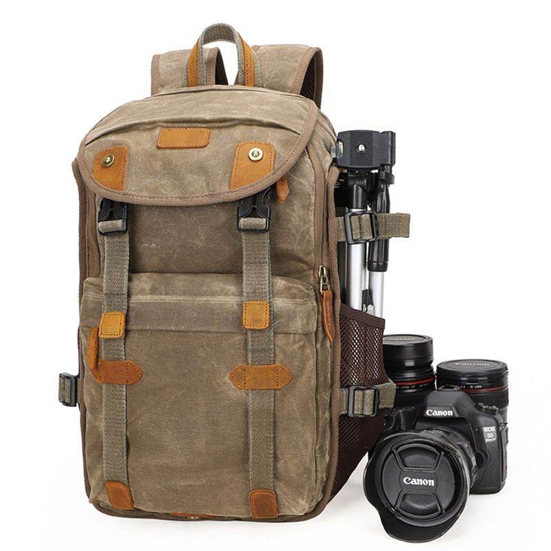 2019 NEUE Batik Leinwand Kamera Rucksack Große Kapazität Im Freien Wasserdichte fotografie Tasche für Canon Nikon Sony Digital Kamera fall