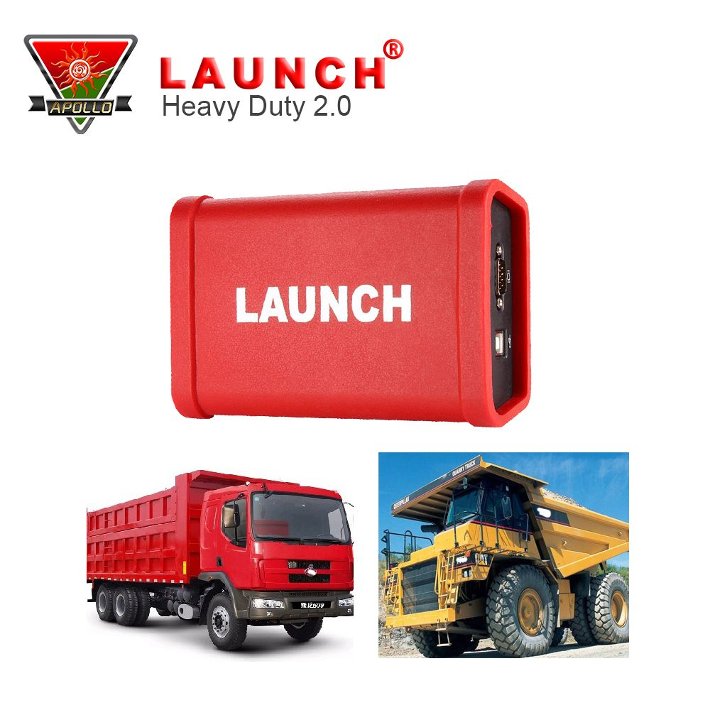 LAUNCH X431 Heavy Duty Adapter Box Scan Tools For 12-24V Heavy Truck One Years Free Update