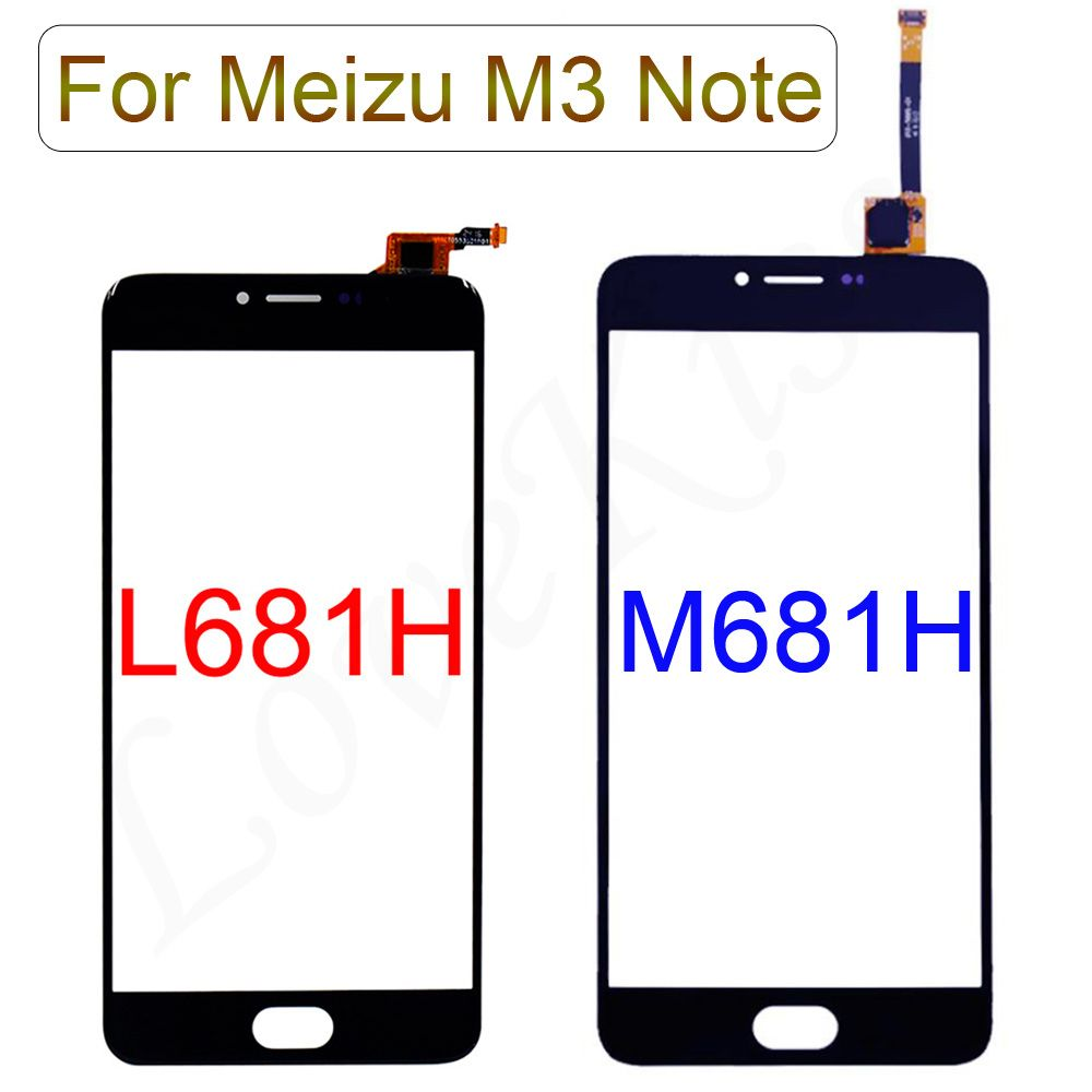 Touchscreen Front Panel For Meizu M3 Note M681H L681H L681 M681 Touch Screen Sensor Digitizer LCD Display Glass Replacement Tool