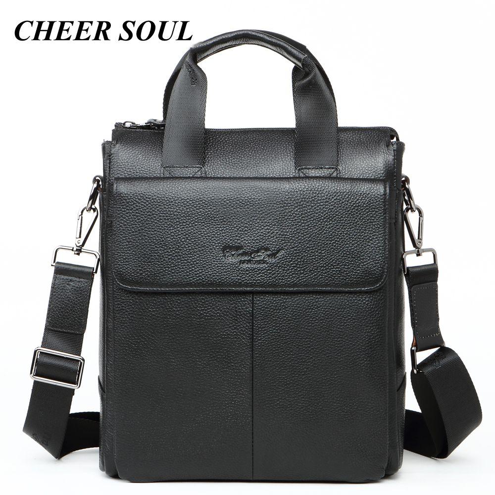Business Männer Aktentaschen Aus Echtem Leder Laptop Taschen Für Männer Mode Handtaschen Büro A4 Dokument Fall Männlichen Messenger Schulter Tasche