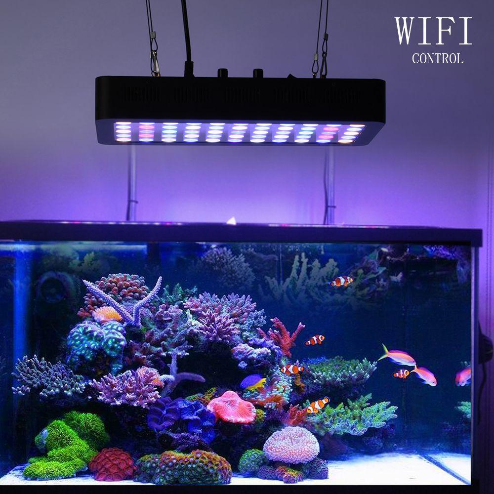 Dimmbare APP Control Led Aquarium Lampe 165 watt Korallen Riff WIFI LED Wachsen Licht für Aquarium Landschaft Beleuchtung Aquatische pflanzen lampe