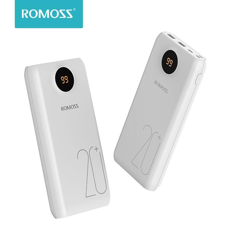 ROMOSS SW20 Pro 20000 mAh batterie externe Portable batterie externe avec QC3.0 charge rapide et affichage LED pour les téléphones tablette