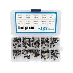 BC337 BC327 2N2222 2N2907 2N3904 2N3906 S8050 S8550 A1015 C1815 Transistor Assortiment Kit 10 valeur 200 pcs, transistors Box Pack