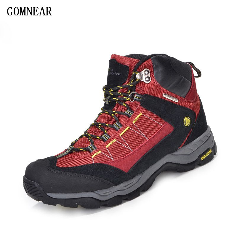 GOMNEAR Men's And Women's Waterproof Hiking Shoes Antiskid Desert Jungle Trekking Sport Shoes Lovers Hunting Male Climbing Boots