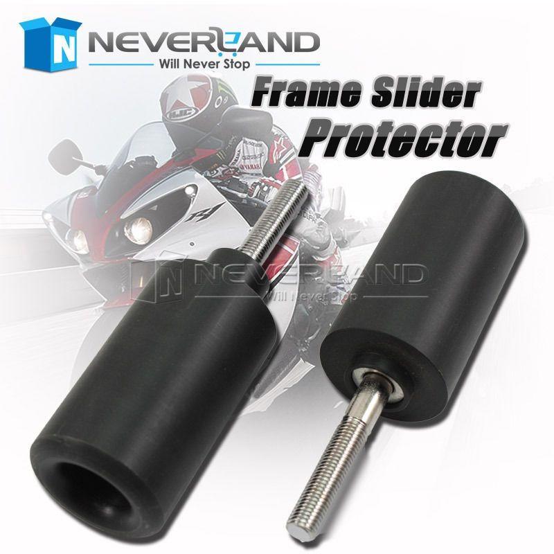 New Falling Protectors Motorcycle Black Frame Slider Anti Crash Caps For Suzuki GSXR 1000 K7 2007 2008 Motocross D25