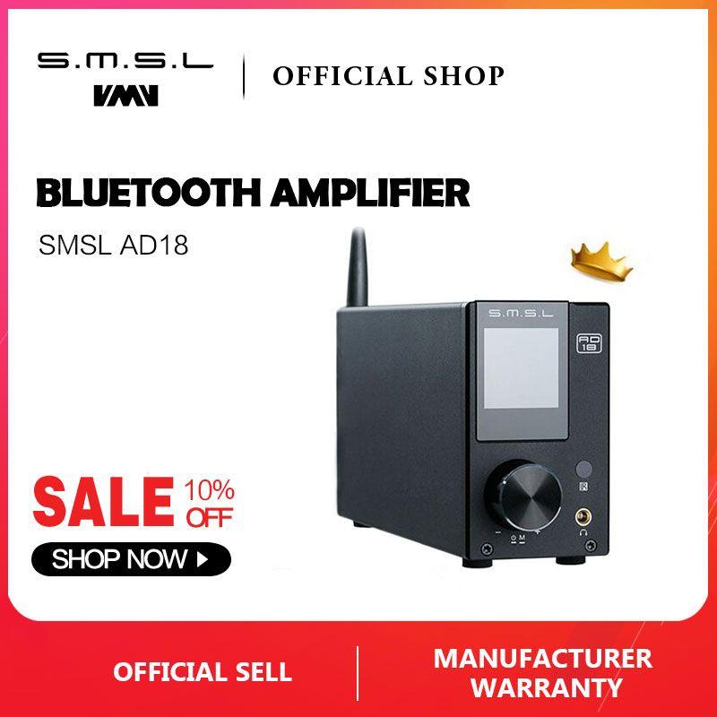 SMSL AD18 HALLO-FI Audio Stereo Verstärker mit Bluetooth 4,2 Unterstützt Apt-X, USB DSP Full Digital Power Verstärker 2,1 für Lautsprecher