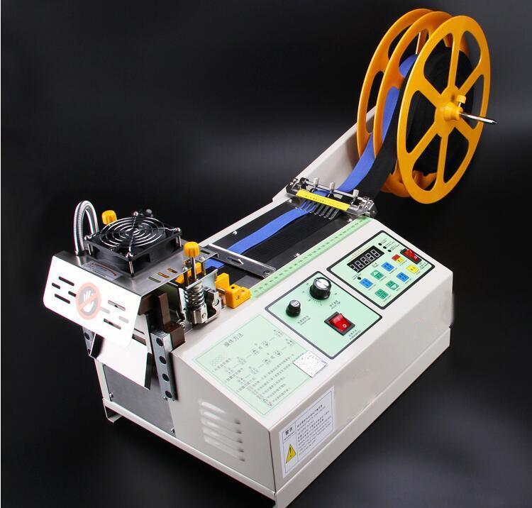 988T computer hot and cold Cloth belt cutting machine, magic adhesive tape zipper webbing machine elastic belt automatic cutting
