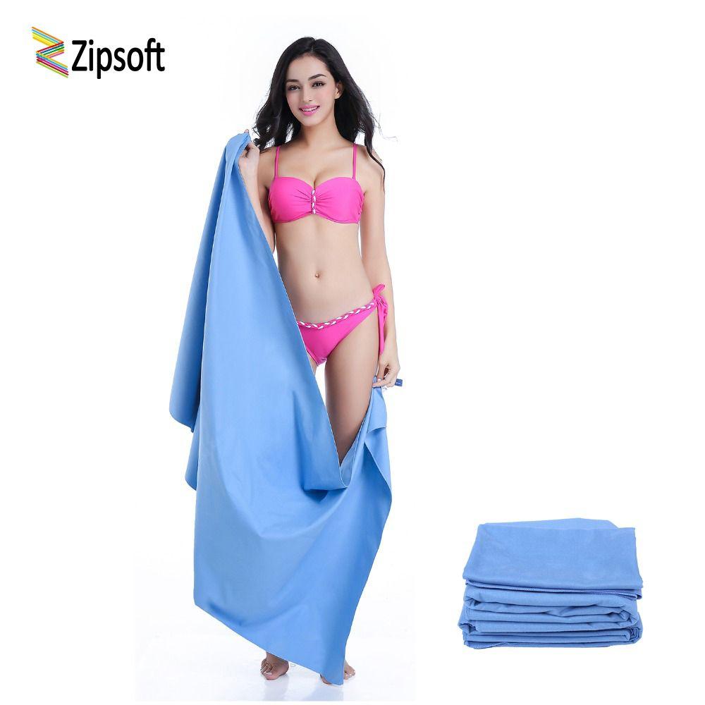 Zipsoft serviettes De Plage avec Sac En Filet Couverture Plage Wraps Sport et voyage Hôtel Tapis De Yoga À Séchage Rapide Bain Gym Hikiing Camping De Bain
