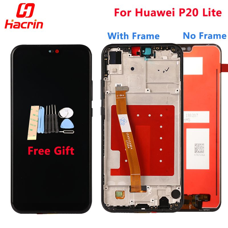 Huawei P20 Lite LCD Display +Touch Screen 5.84'' New Digitizer Assembly Replacement Screen Panel For Huawei P20 Lite Nova 3E