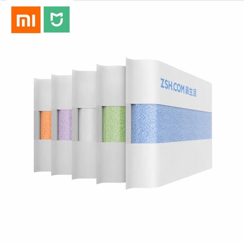 2018 Xiaomi ZSH Polyegiene Antibacterical Towel Young Series 100% Cotton 5 Colors Highly Absorbent Bath Face Hand Towel