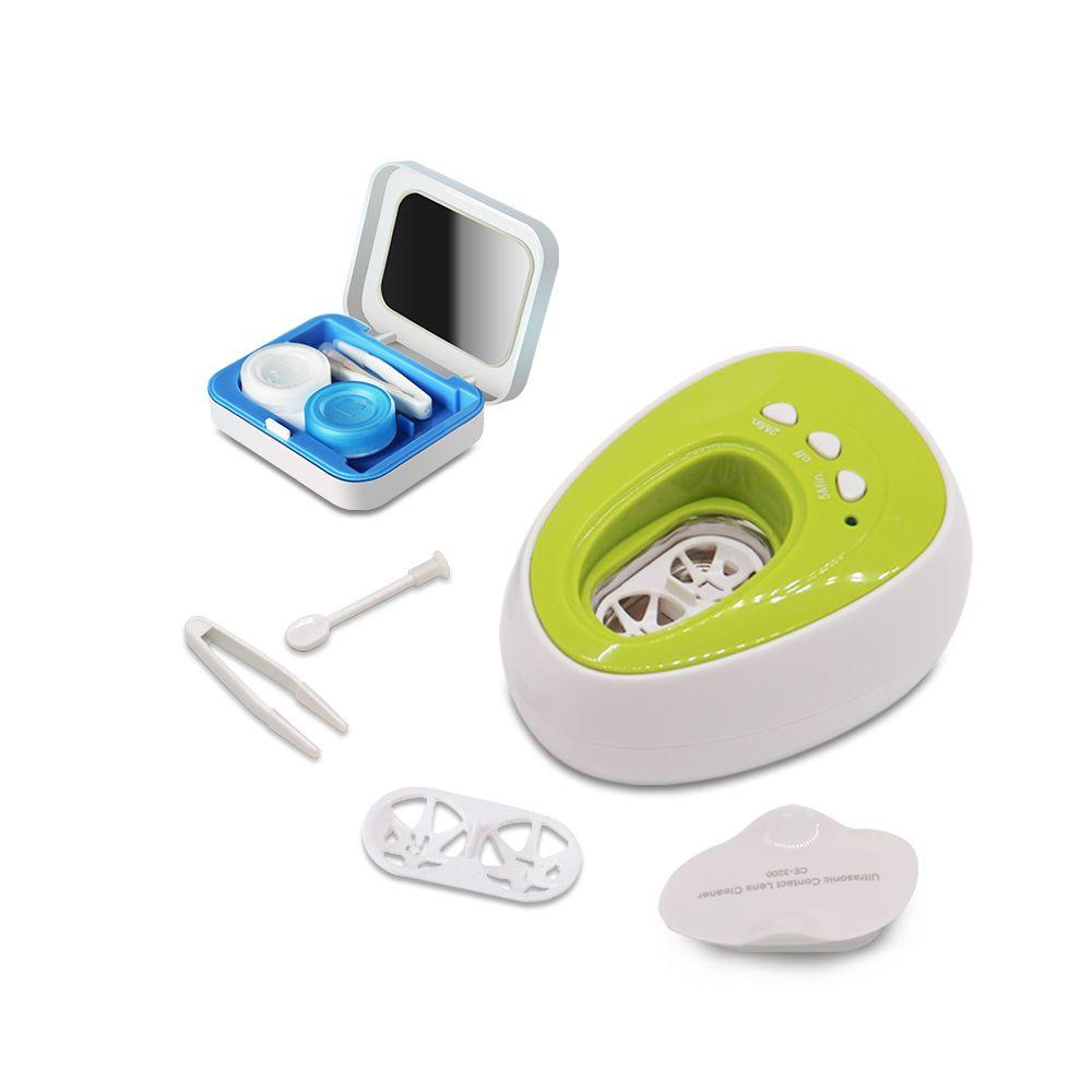 Mini Machine de nettoyage à ultrasons électronique numérique rondelle de bain lentille de Contact ultrasons Invisible lunettes boîte voyage voyage