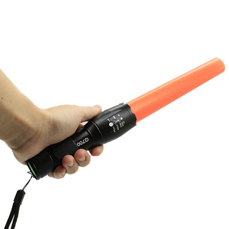 G700 tactique lampe de poche CREE XML T6 3800LM puissant led lampe torche lanterne trafic équipement de police par 18650 rouge lumière de bâton