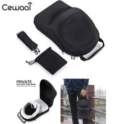 Cewaal for DJI 3D Goggles VR/AR Glasses Case Holder Protective Hardshell Box Handbag PU Black 35*24*15cm