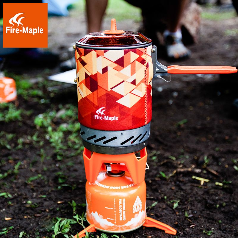 Feuer Ahorn fms-x2 fms-x3 Compact One-Stück Camping Gasherd Topf Set Wärme Tauscher Topf Flash Persönliche Kochen System x2 X3