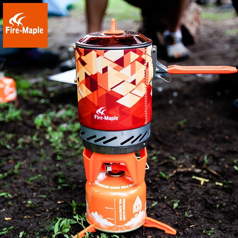 Fire Maple fms-x2 fms-x3 Compact One-Piece Camping Gas Stove Pot Set Heat Exchanger Pot Flash Personal Cooking System X2 X3