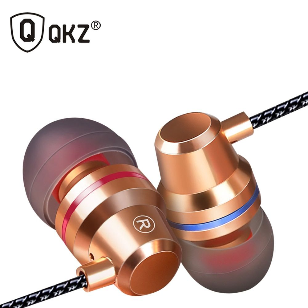 Genuine Earphones QKZ DM1 In-Ear Earphone Headset With Microphone 3 Colors fone de ouvido gaming headset audifonos dj mp3 player
