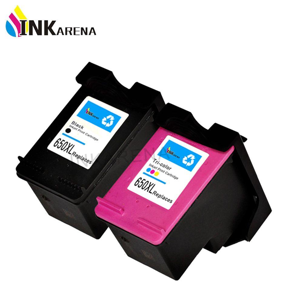 INKARENA Remanufactured Ink Cartridge Replacement for HP 650 650XL Black Tri-color 1015 1515 2515 2545 2645 3515 Refill Printer