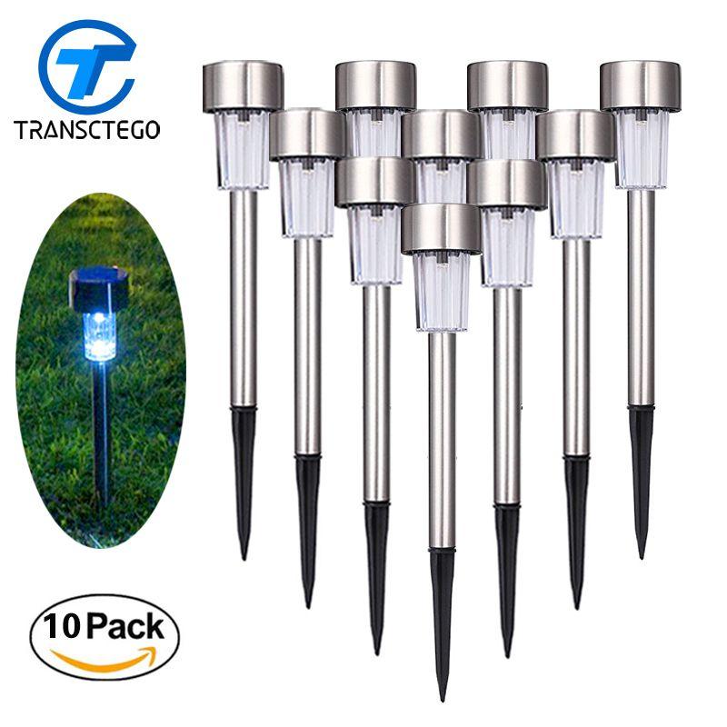 10 PCS Led Solar Light Outdoor Lawn Lamp Solar Energy System Powered Path Lights Street Lighting Luminaria For Garden Decoration