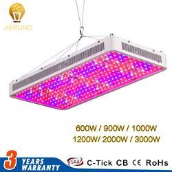 JIERNUO LED crece la luz 2000 W 1200 W 1000 W 900 W 600 W espectro completo crecer invernadero planta llevada lámpara para interiores 3000 W doble Chips