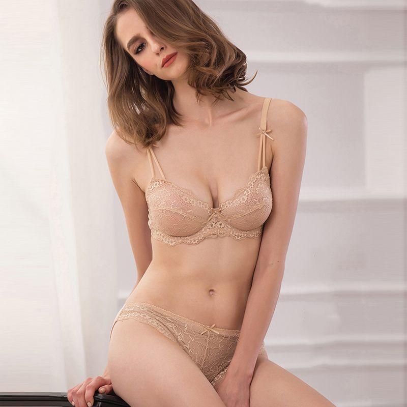 CINOON de Femmes sexy vs soutien-gorge ensemble dentelle sous-vêtements réglable tasse mince ensemble lingerie grande taille femmes soutiens-gorge et sous-vêtements ensembles