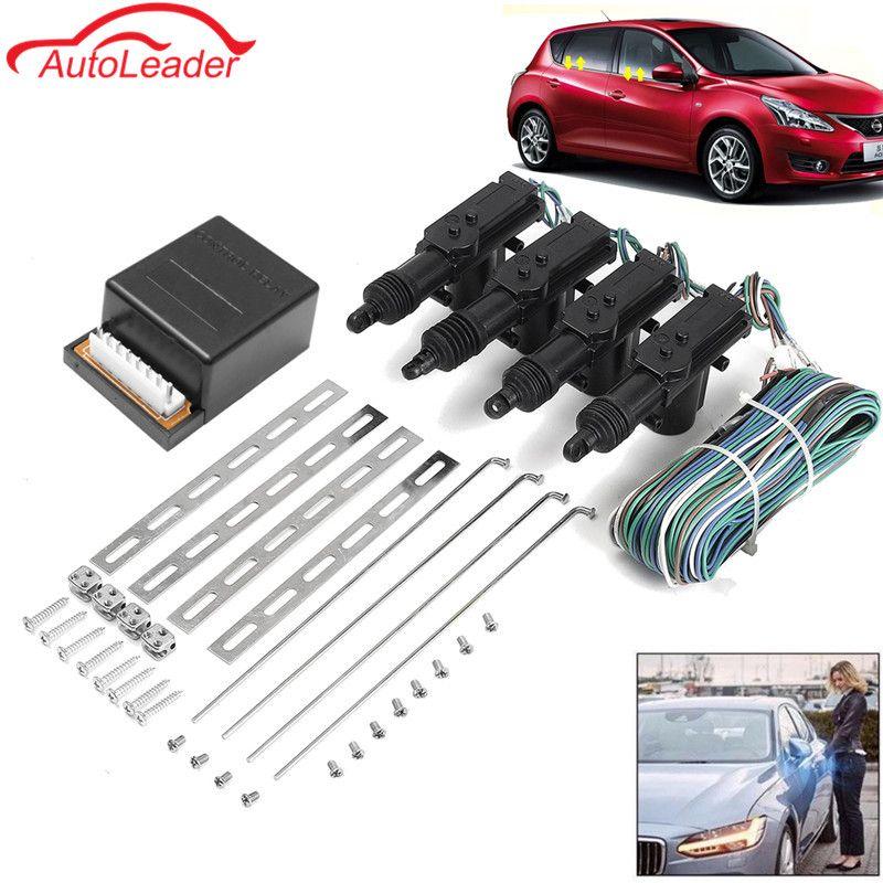 Universal Auto Auto Fern 4 Tür Halterung Keyless Entry System 360 Grad-umdrehung Zentralverriegelung Alarm Security Kit