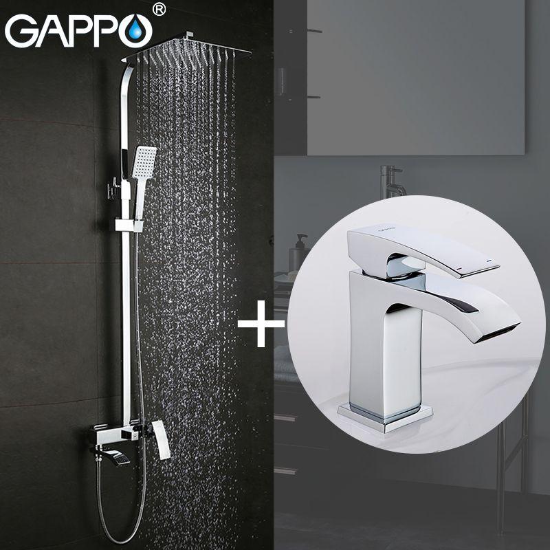 GAPPO Shower Faucets bath tub faucet bathroom faucet mixer basin faucets basin sink tap Sanitary Ware Suite