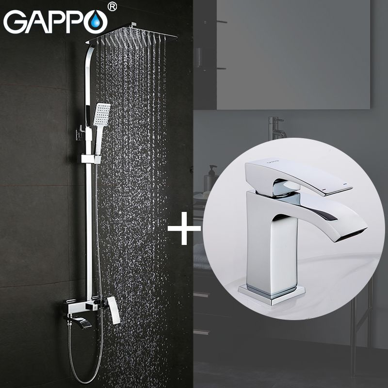 GAPPO Shower Faucets bath tub faucet bathroom faucet mixer basin faucets basin sink tap Sanitary Ware Suite
