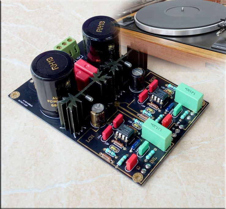 2017 New Nobsound Germany DUAL Phono Turntable Preamp Moving Magnet MM LP Vinyl Preamplifier Board