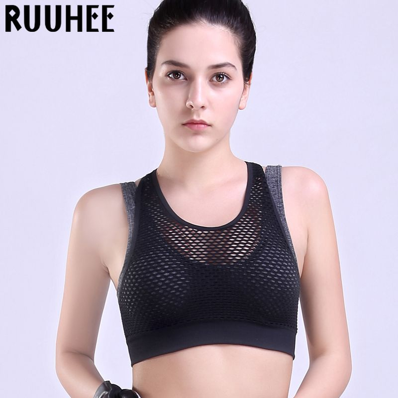 Women Sports Bra For Running Gym Wirefree Padded Shakeproof Underwear Push Up Seamless Fitness Top Bras For Woman Summer Style